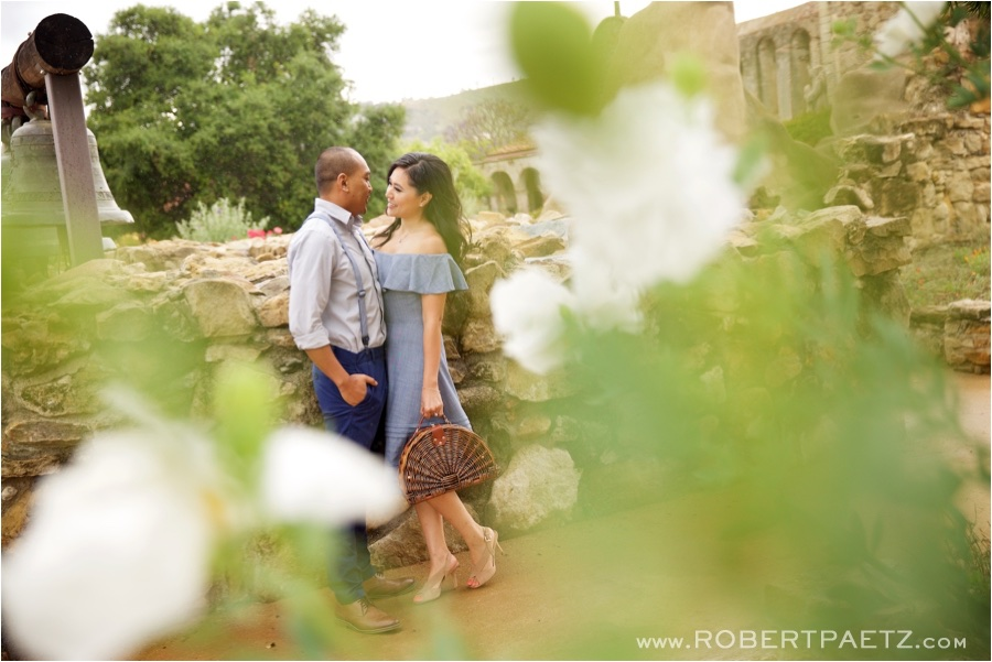 San, Juan, Capistrano, Mission, Orange, County, California, Engagement, Photography, Photographer, Wildflowers