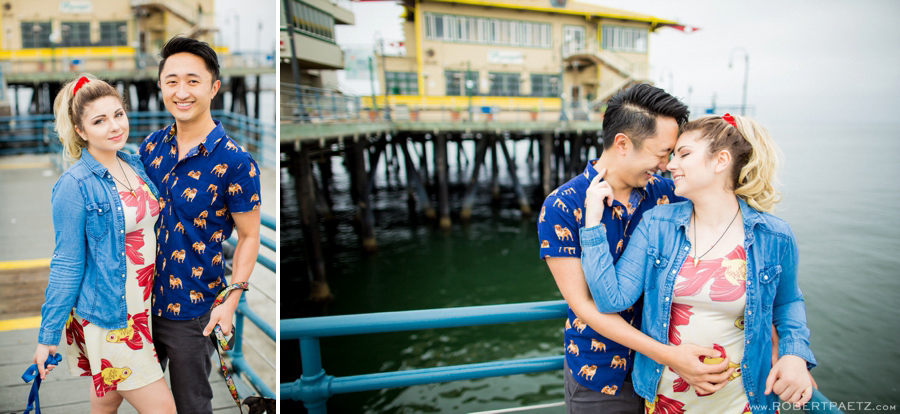 Santa, Monica, Pier, Los, Angeles, Engagement, Photography, Photographer