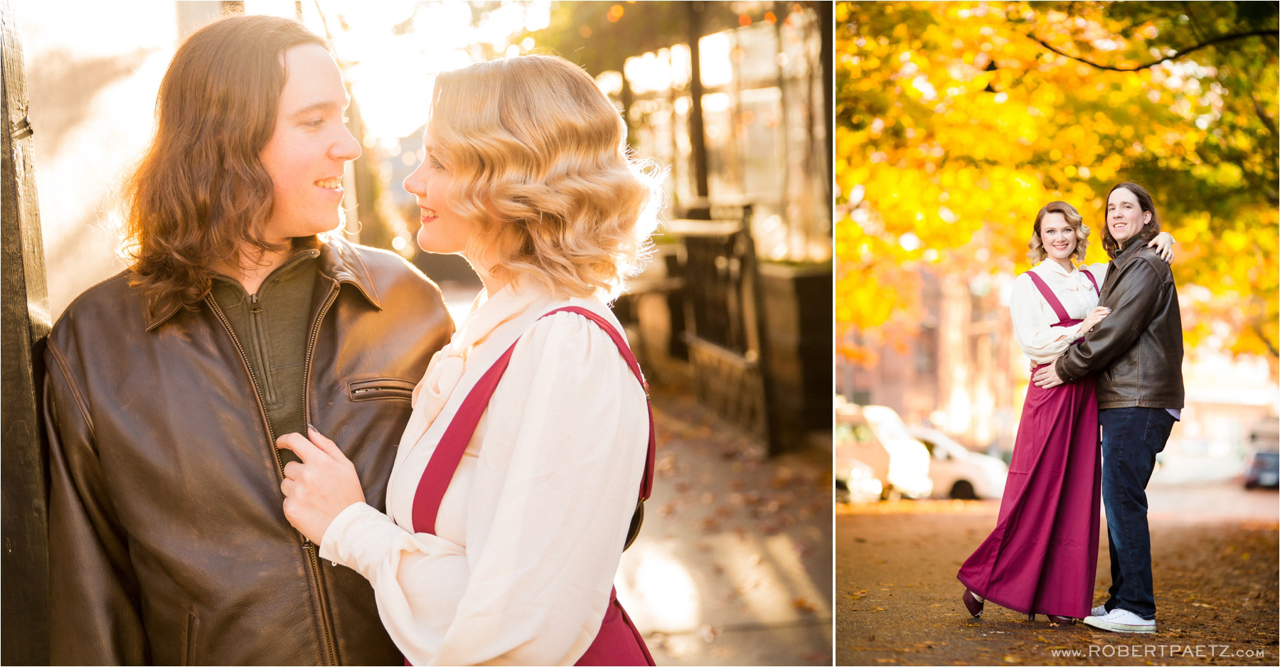 An engagement session in the Seattle neighborhood of Ballard, photographed by the destination wedding photographer, Robert Paetz.