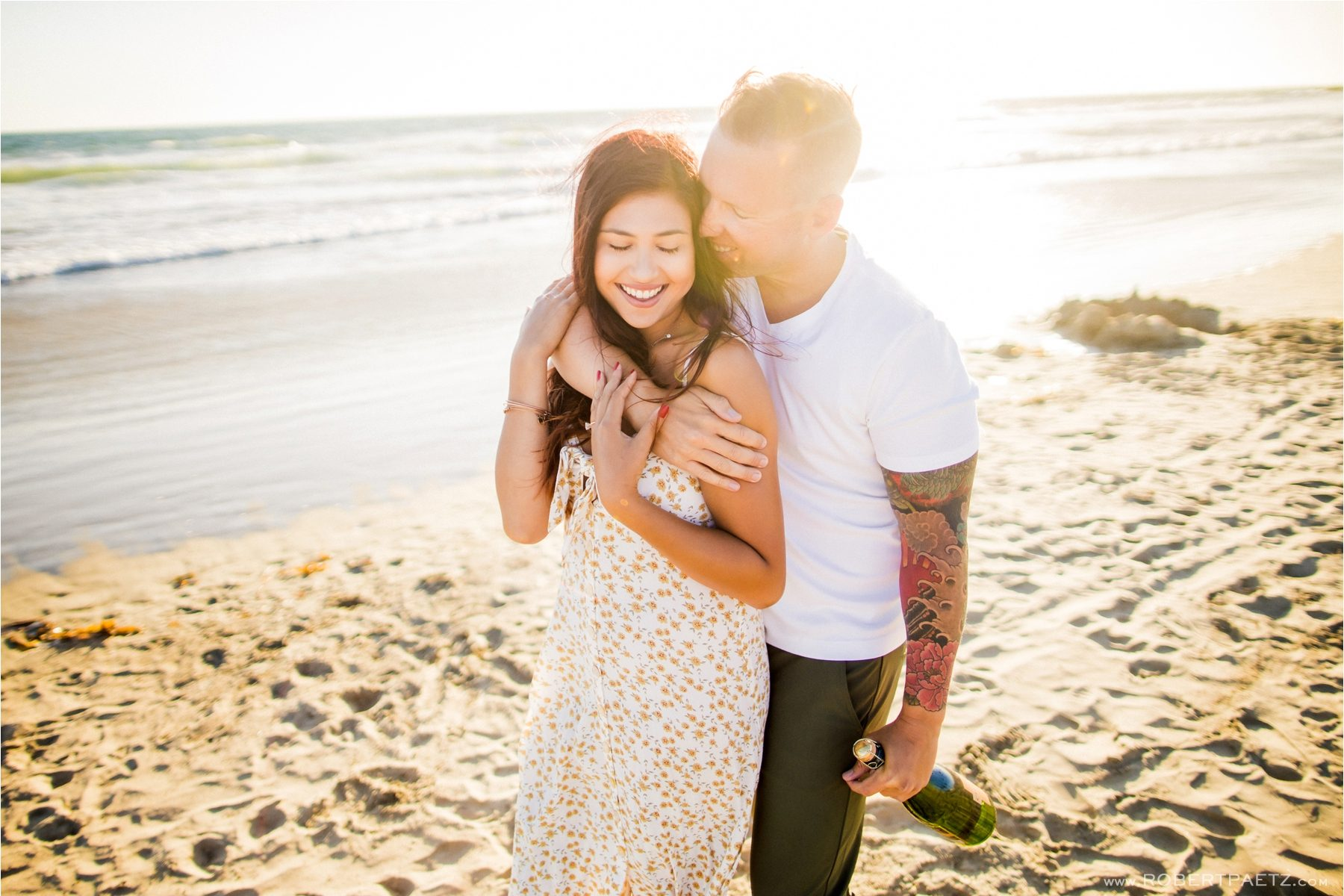 A Newport Beach, Orange County engagement photography session by the destination wedding photographer Robert Paetz.