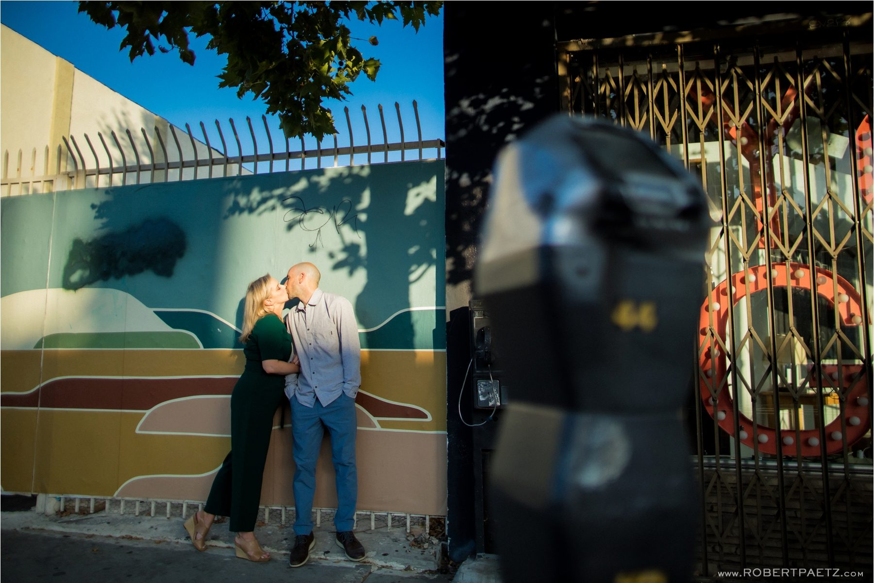 A creative engagement photography session in Highland Park, California by the Los Angeles based destination wedding photographer, Robert Paetz.
