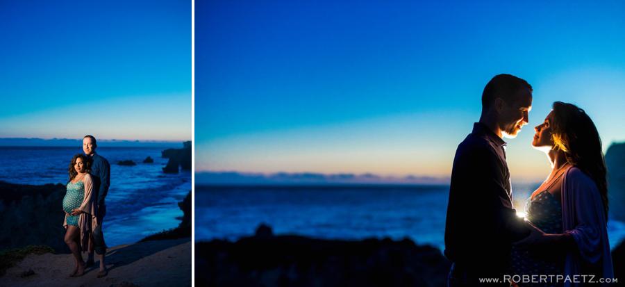 A Malibu California maternity photography session near El Matador state beach, photographed by the west coast destination wedding photographer, Robert Paetz.