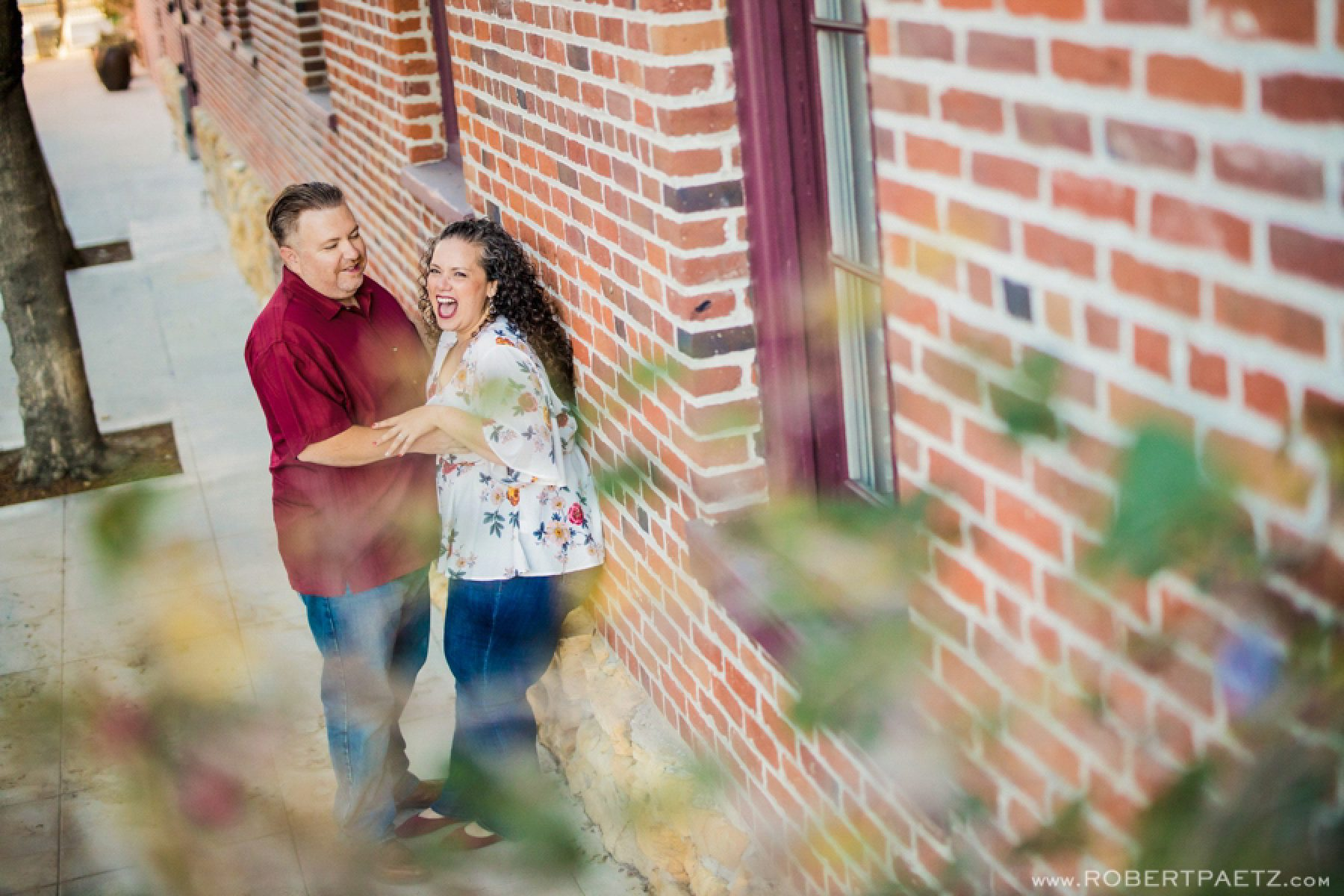 A downtown Los Angeles engagement photography session near Union Station and Olvera Street, photographed by the west coast destination wedding photographer, Robert Paetz.