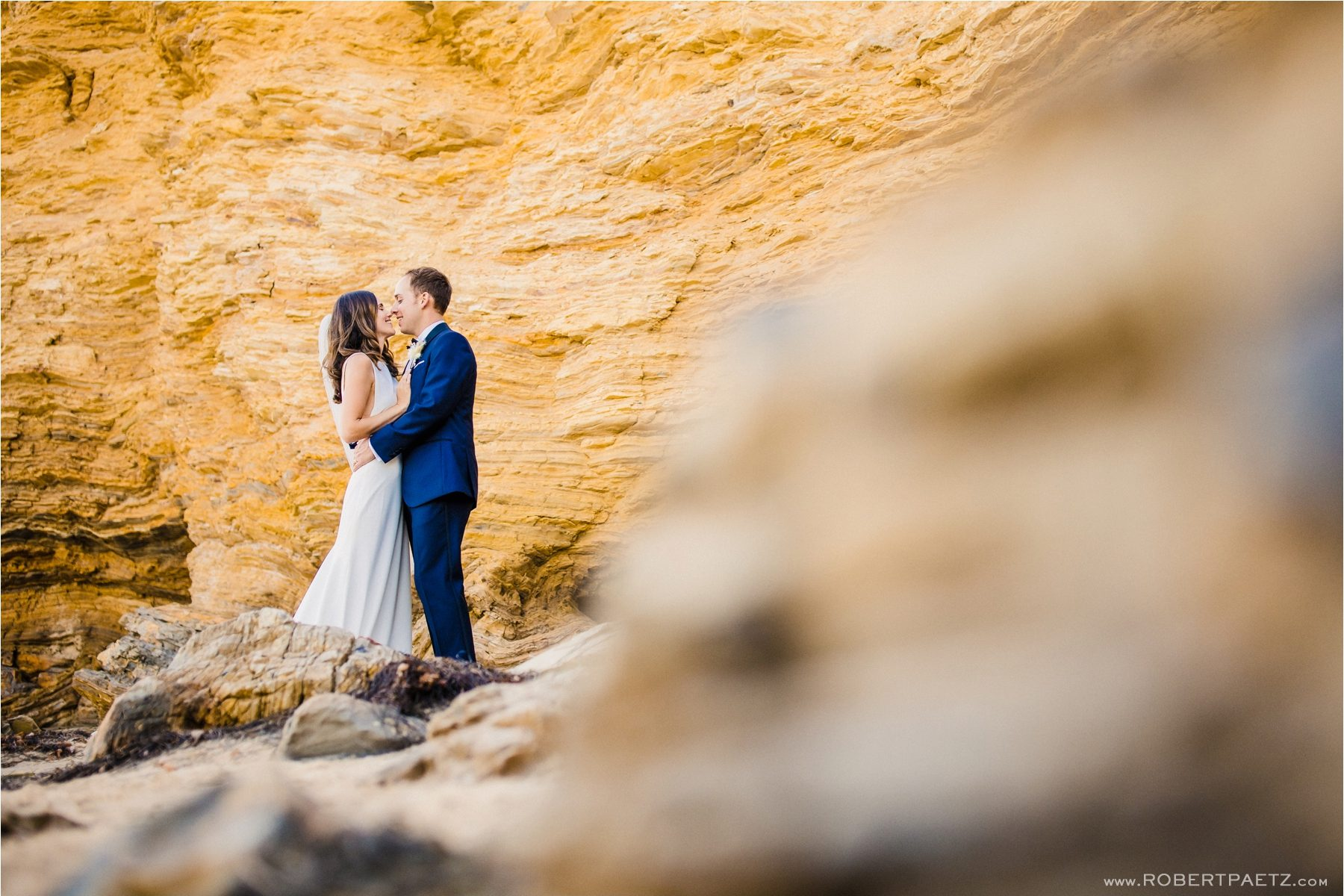 A intimate zoom wedding at Pelican Hill and Crystal Cove in Newport Beach, photographed by the west coast and destination photographer Robert Paetz.