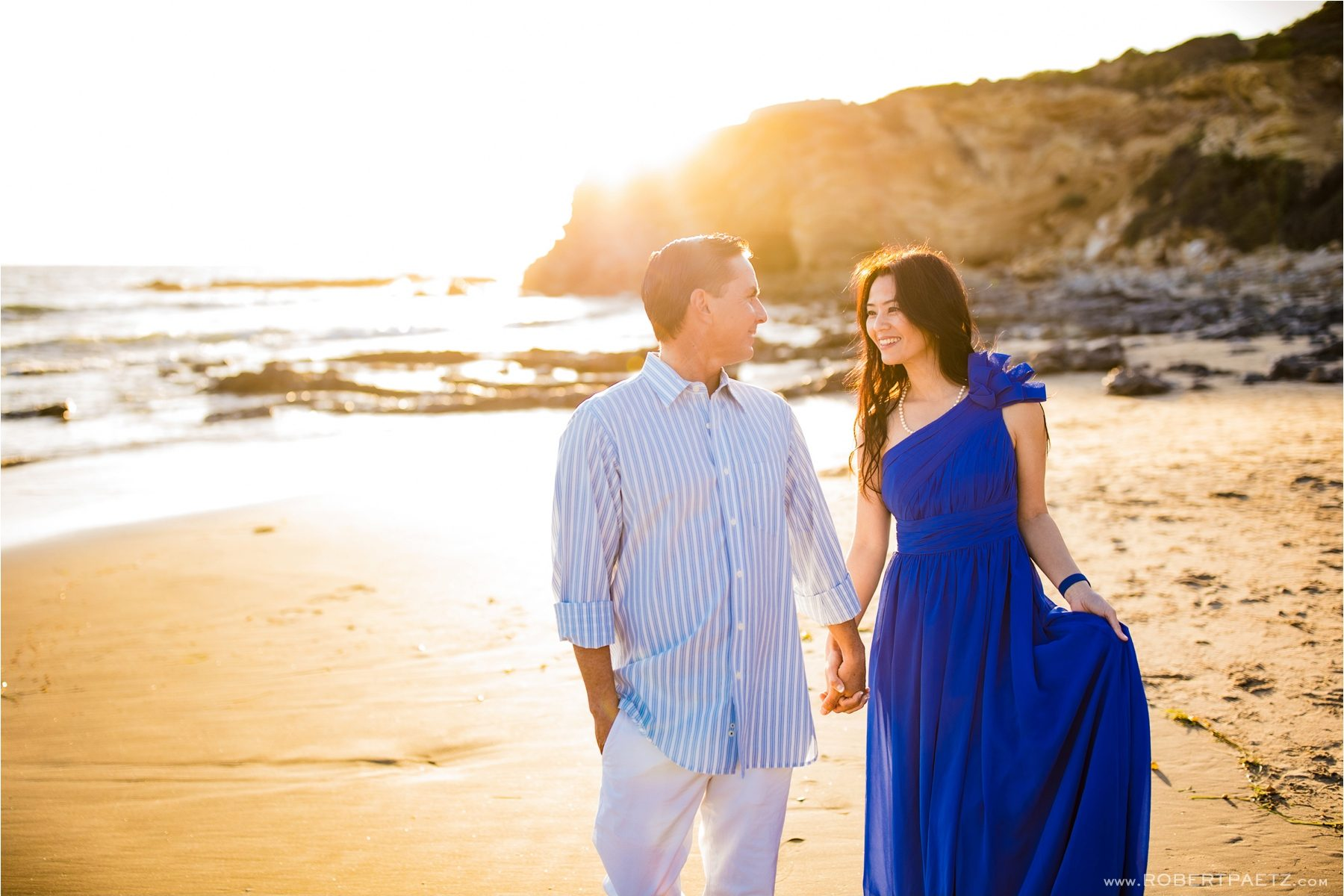An Engagement photography session at Crystal Cove State Park in Newport Beach, California photographed by the destination wedding photographer, Robert Paetz, who is based in Los Angeles.