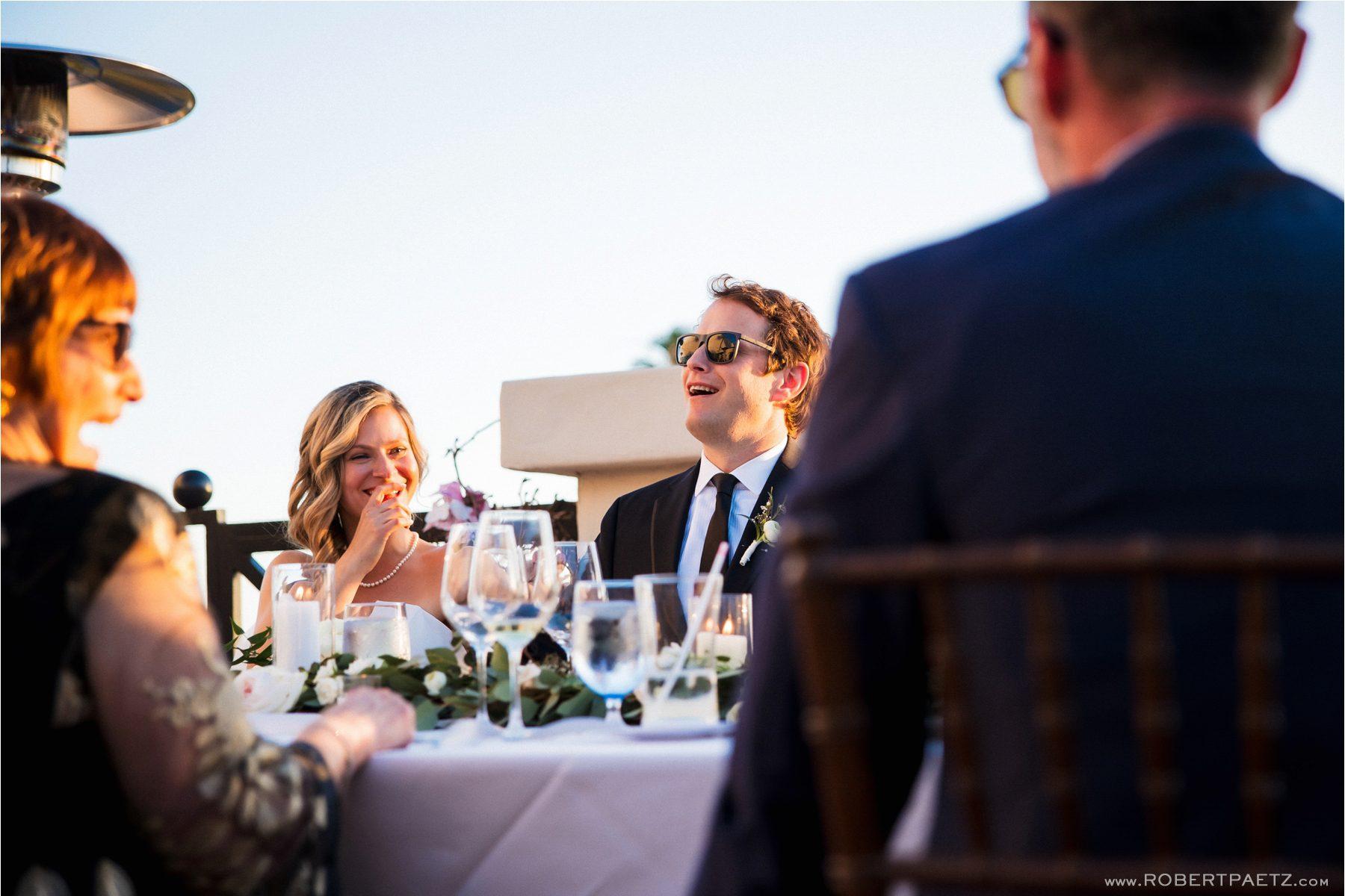 A beach front wedding at the Jonathan Club in Santa Monica, California.