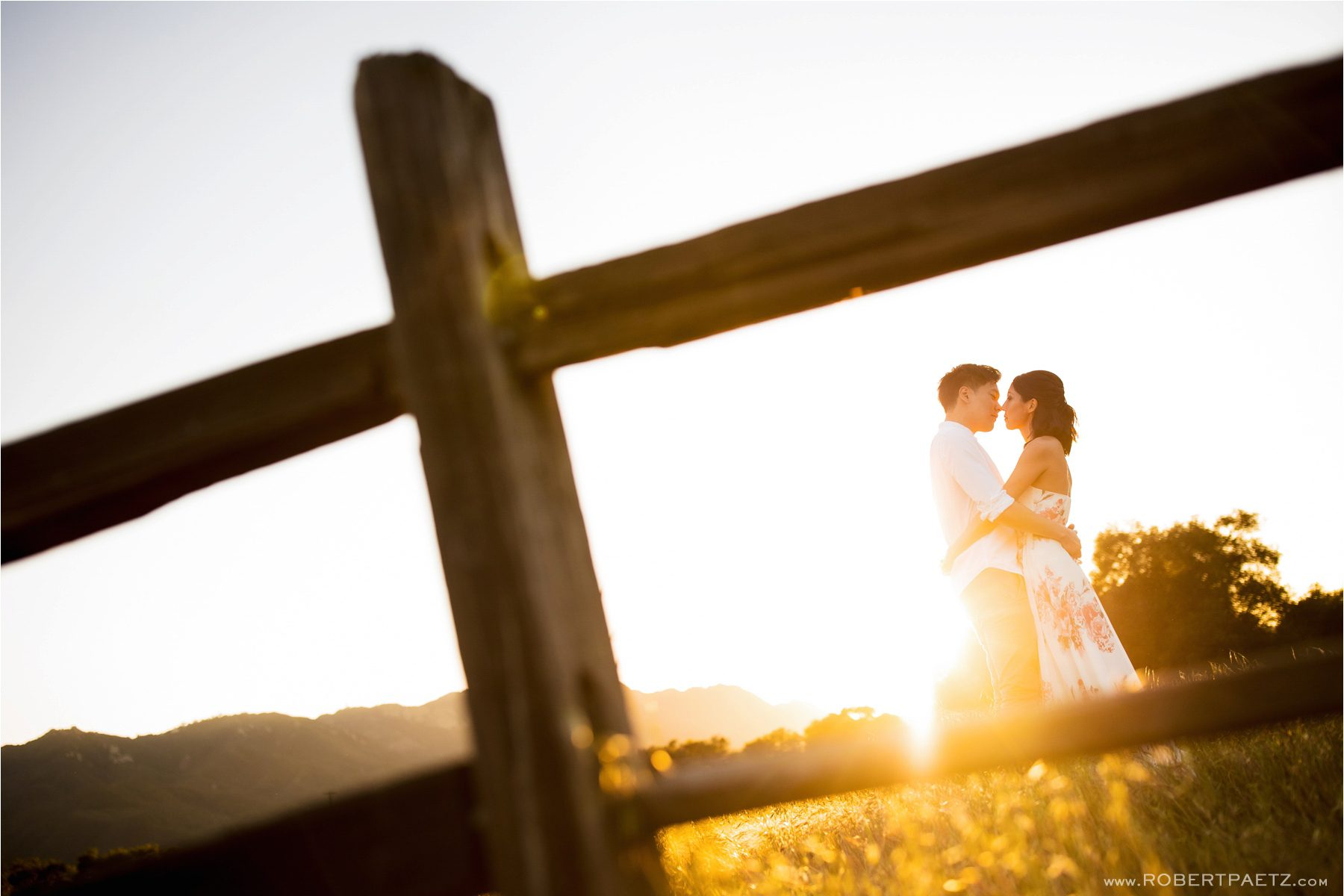 An engagement photography session at Topanga Canyon State Park just outside of Los Angeles by the wedding photographer, Robert Paetz.
